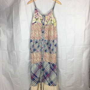 Sundance maxi dress boho patchwork large